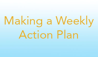 Making a Weekly Action Plan image