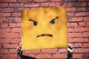 grumpy face