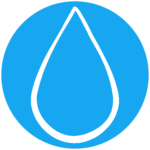 raindrop2 in circle icon