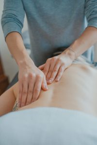 person receiving massage therapy