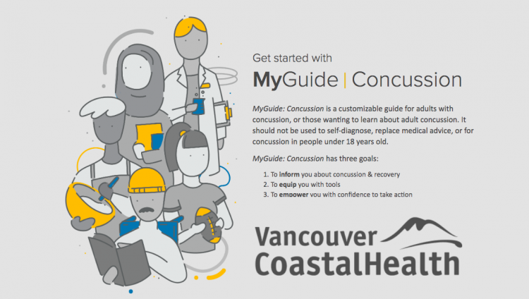 MyGuide Concussion website - VCH