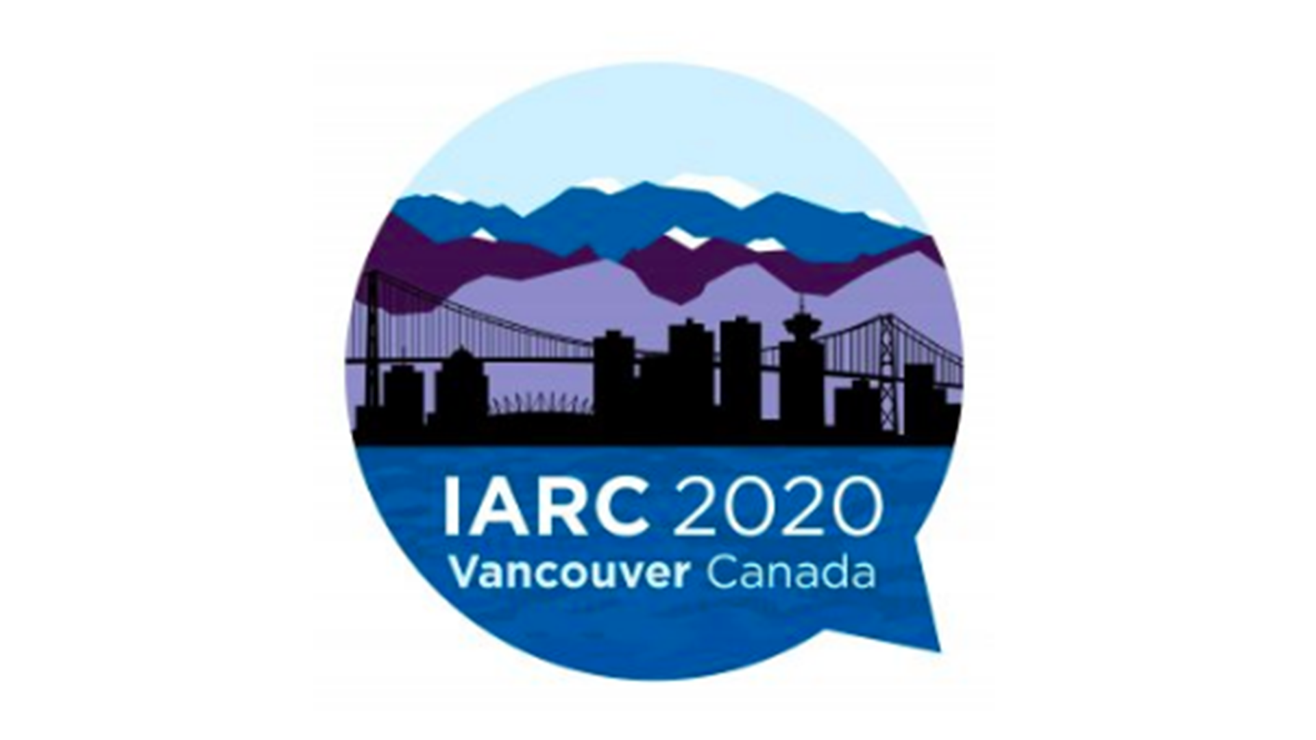 City skyline with IARC text