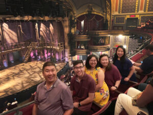 family at at theatre show