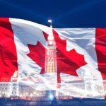 Canada Flag Parliament Buildings Ottawa